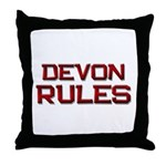 devon rules Throw Pillow