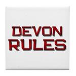 devon rules Tile Coaster