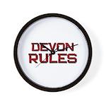 devon rules Wall Clock
