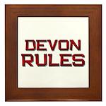 devon rules Framed Tile