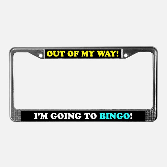 Bingo Lovers License Plate Frame