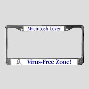 Virus-Free Zone! License Plate Frame