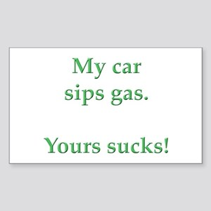 My Car Sips Rectangle Sticker