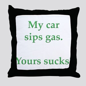 My Car Sips Throw Pillow