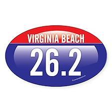 Virginia Beach Marathon Oval Sticker