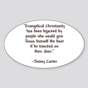 Jimmy Carter Quote Oval Sticker