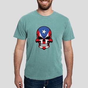 Puerto Rican Flag Skull T-Shirt