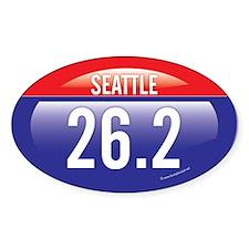 Seattle Marathon Oval Sticker