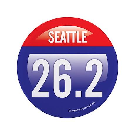 """Seattle Marathon 3.5"""" Button"""