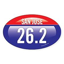 San Jose Marathon Oval Sticker