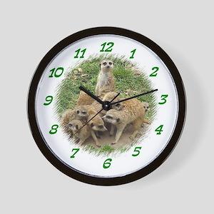 MEERKAT DAYCARE CLOCK Wall Clock