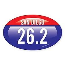 San Diego Marathon Oval Sticker