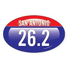 San Antonio Marathon Oval Sticker