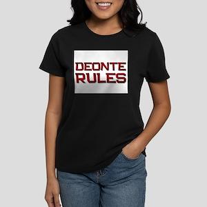 deonte rules Women's Dark T-Shirt
