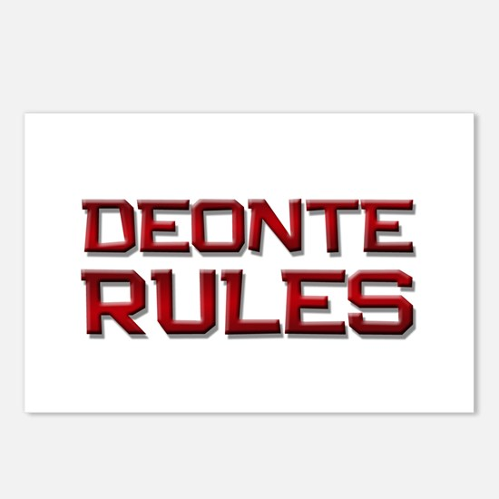deonte rules Postcards (Package of 8)