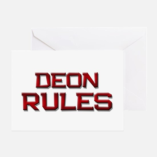 deon rules Greeting Card