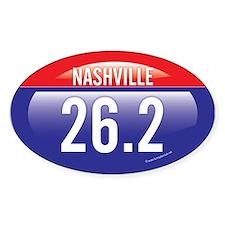 Nashville Marathon Oval Sticker