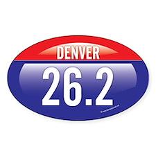 Denver Marathon Oval Sticker