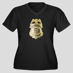 Minneapolis Police Women's Plus Size V-Neck Dark T