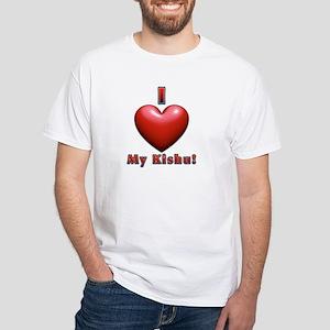 I Heart My Kishu! White T-Shirt