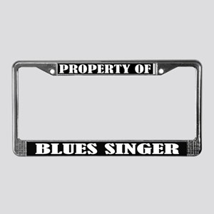 Blues Singer Music License Plate Frame