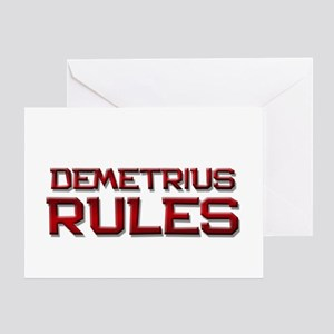 demetrius rules Greeting Card