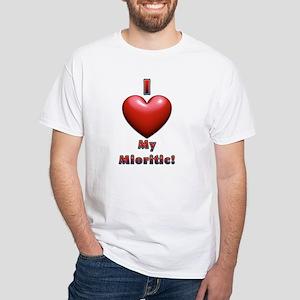 I Heart My Mioritic! White T-Shirt