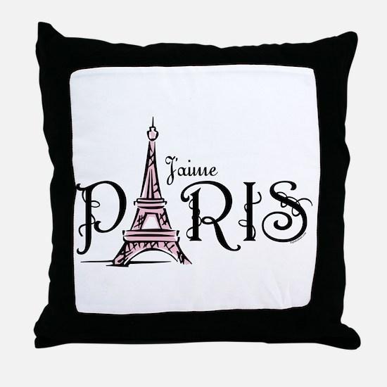 J'aime Paris Throw Pillow