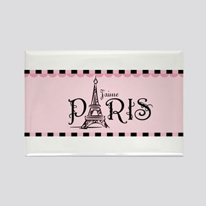 J'aime Paris Rectangle Magnet
