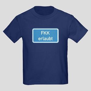 Nudism Allowed, Germany Kids Dark T-Shirt