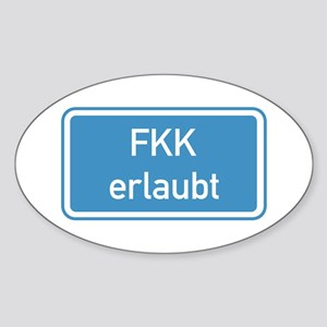 Nudism Allowed, Germany Oval Sticker