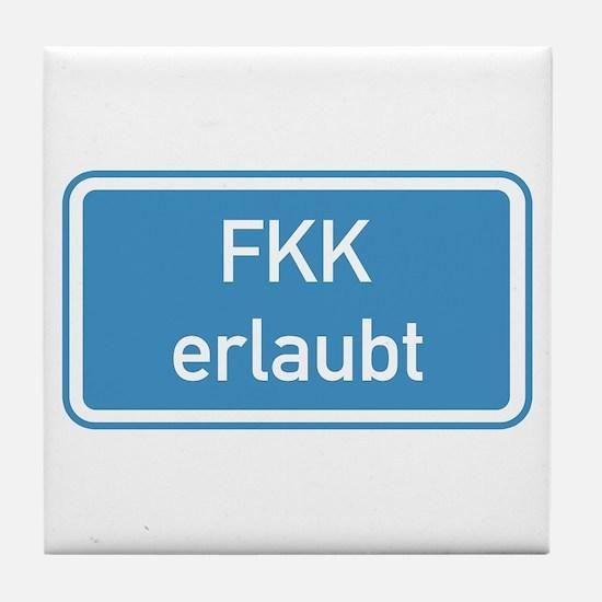 Nudism Allowed, Germany Tile Coaster