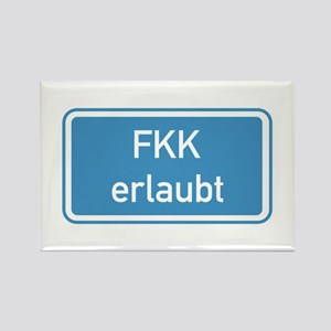 Nudism Allowed, Germany Rectangle Magnet