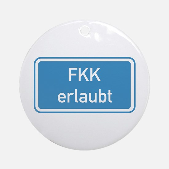 Nudism Allowed, Germany Ornament (Round)