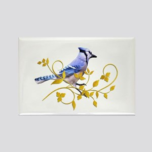Blue Jay Rectangle Magnet