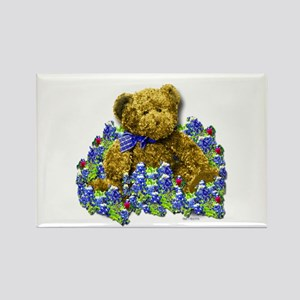 Bluebonnet Bear Rectangle Magnet