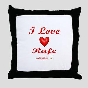 I LOVE RAFE Throw Pillow