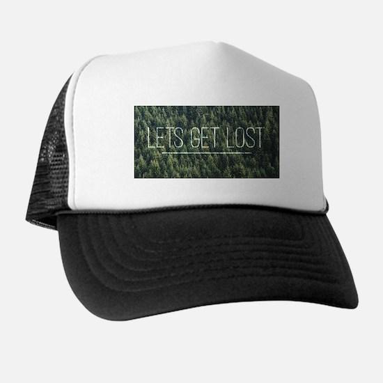 Lets Get Lost (Long) Trucker Hat