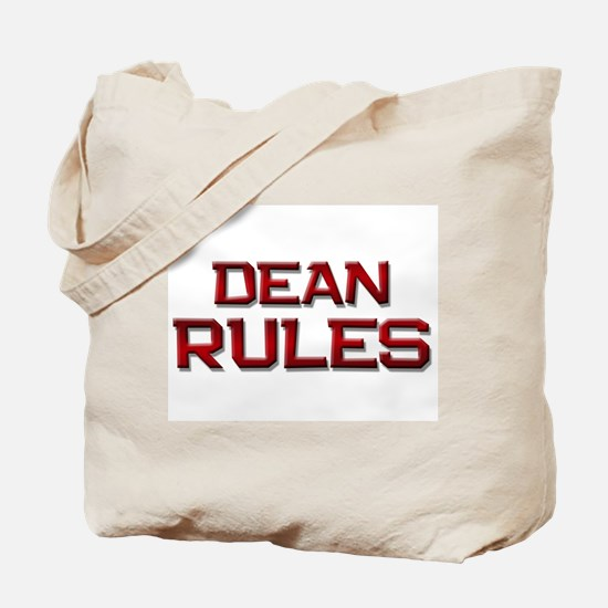 dean rules Tote Bag