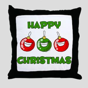 Happy Merry Christmas Throw Pillow