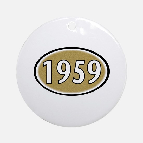 1959 Oval Ornament (Round)