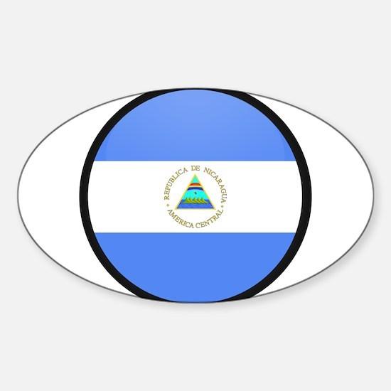 Nicaragua Oval Decal
