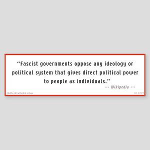 Wikipedia defines Fascism (Bumper Sticker)