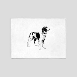 Brittany Spaniel Dog 5'x7'Area Rug