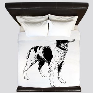 Brittany Spaniel Dog King Duvet
