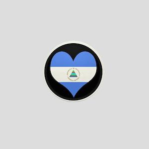 I love Nicaragua Flag Mini Button