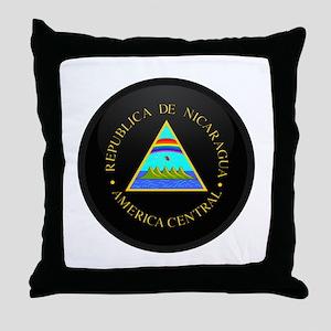 Coat of Arms of Nicaragua Throw Pillow