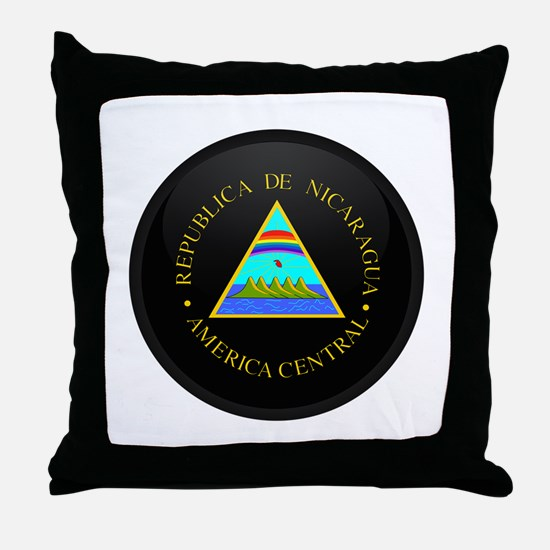 Coat of Arms of Nicaragua Throw Pillow