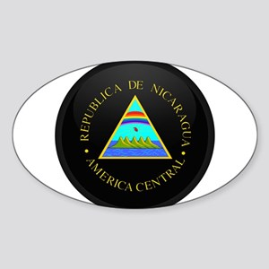 Coat of Arms of Nicaragua Oval Sticker