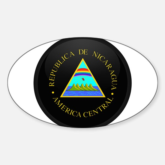 Coat of Arms of Nicaragua Oval Decal